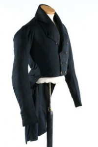 Blue silk lapels 1800's wear